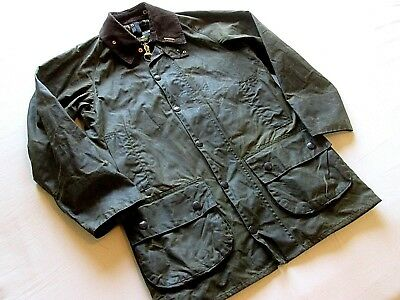 "Men's Classic BARBOUR Beaufort Waxed Jacket. 38"" Chest. Good Condition."