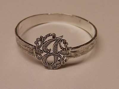 Napkin Ring with a ( Initial ( J ) Sterling Silver