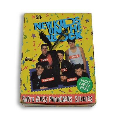 1989 Topps New Kids On The Block Series 1 Trading Card Box X-OUT