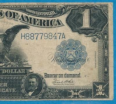 $1.00 1899 Fr.235  Black  Eagle Silver Certificate Average Circulated Very Fine