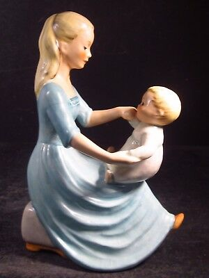 "Goebel Byj #37 ROCK-A-BYE Mother Playing With Toddler  6"" Tmk 3"