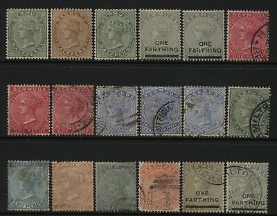 Bermuda Collection 18 QV Stamps Used / Unused Mounted