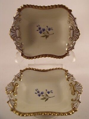 A Superb Pair of Flight Barr and Barr Worcester Porcelain Small  Dishes - c1815