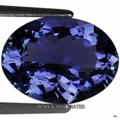 Tanzanite  Oval  Cut  Natural Gemstone 7.5X5.5 Mm Aaa