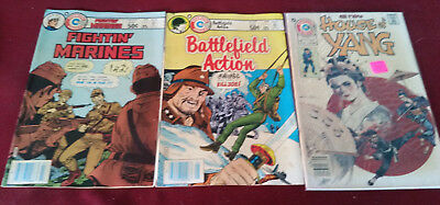 Charlton Comics Fighting Marines 159-Battlefield Actions 69-House of Young 3