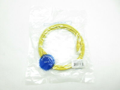 Lex Tec PC6005Y 5ft Yellow Rj45 Cat 6 Patch Cable