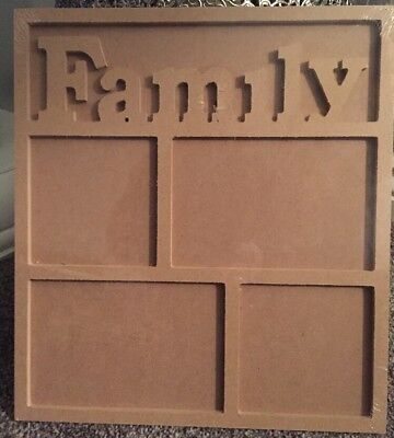 Mdf Ready To Decorate Family Photo Picture Frame With Hanging