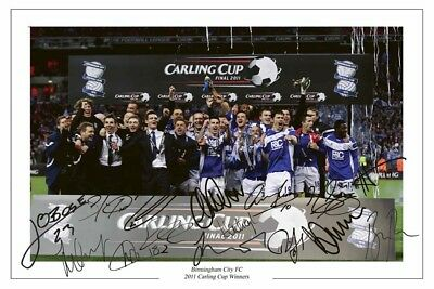 Collectors/Photograph/Print/2011 League Cup Winners/Birmingham/ Signed photo