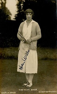 Collectors/Photograph/Photo/Print/Tennis/Wimbledon/Helen Wills Moody/1930/Signed