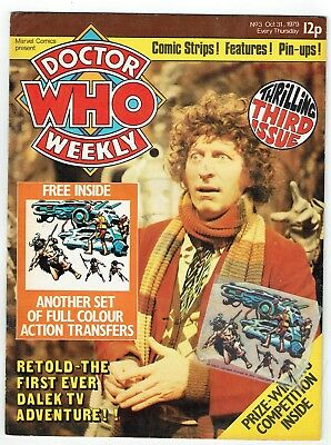 Early Doctor Who Weekly comic No. 3 with free gift
