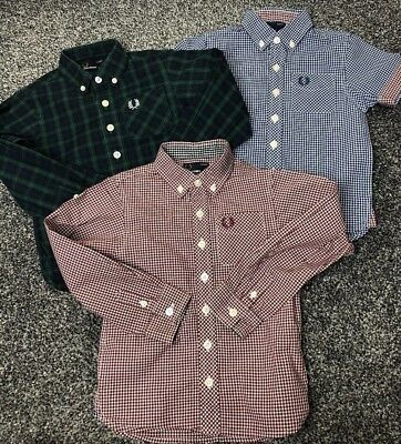 Boys Fred Perry Shirt Top  Bundle Age 2/3 Years Long Sleeve Short Sleeve