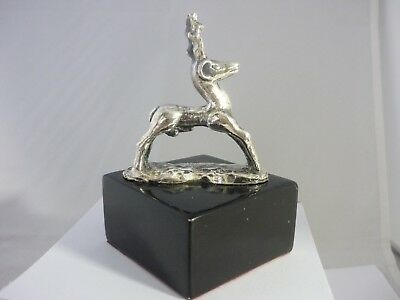 Stunning Vintage Large Sterling Silver Male Reindeer/Deer Sculpture/Statue