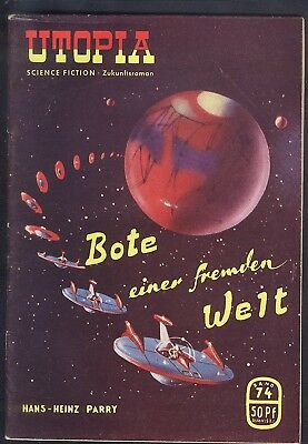 Utopia Zukunftsromane Nr.74 von 1954 - Z1-2 Science Fiction Pabel Romanheft