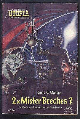 Utopia Zukunftsroman Nr.224 von 1958 - TOP Z1 Science Fiction Pabel Romanheft