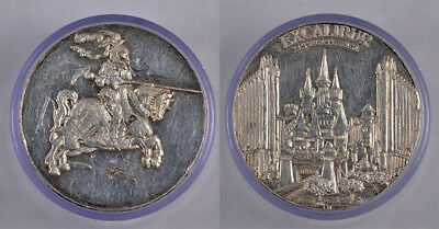 1 Pure Silver Proof Excalibur Casino Medal !!!