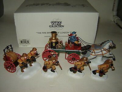 Dept 56 Dickens Village - The Fire Brigade of London Town - Set of 5