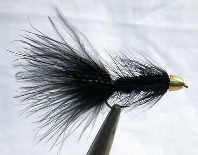 Lot 4 Custom Angler Size 10 McGinty Black /& Yellow Fly Fishing Dry Flies