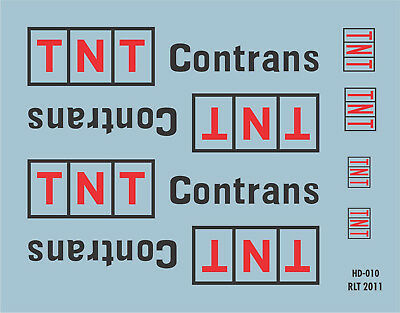 HO Scale Australian Decal for 40' Container TNT Contrans