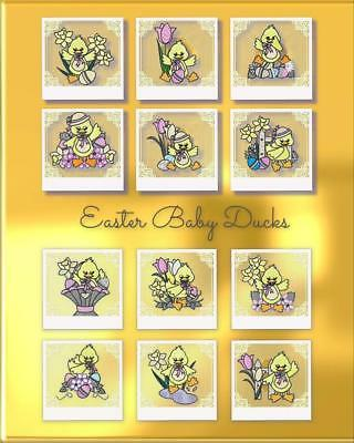 Easter Baby Ducks 12 Machine Embroidery Designs Cd 2 Sizes