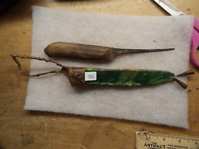 RARE 1800s Native American INDIAN SCALPING  Knife and Sheath,