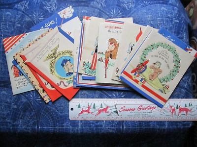 Lot (23) Vintage WWII World War II Greeting Cards US Military Soldier etc hj3644