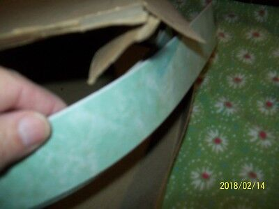VTG 50's/60's Formica Consowald counter edge trim green marble color NOS 12 feet