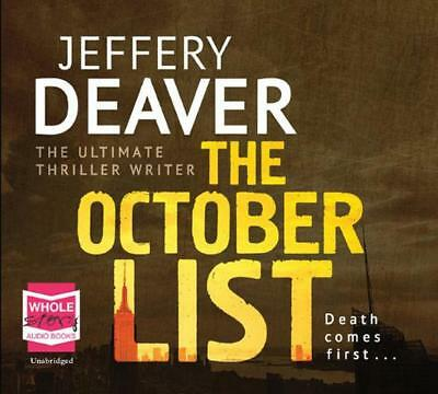 The October List by Jeffery Deaver | Audio CD Book | 9781471245947 | NEW