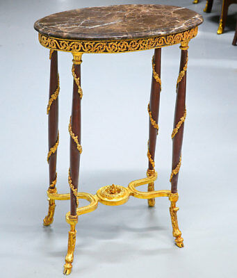 Louis XVI.-Stil BRONZE Guéridon TISCHMÖBEL, 19th Century STYLE GILT BRONZE TABLE