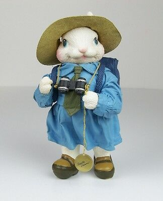 Possible Dreams Folkcraft CLOTHTIQUE Explorer RABBIT Easter Bunny With Tag