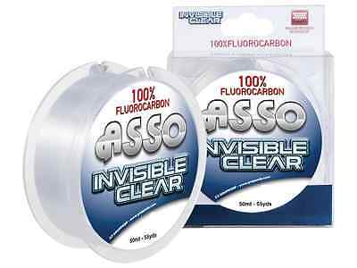 MONOFILAMENT ASSO INVISIBLE CLEAR 0 1/32in FLUOROCARBON 100% 50 MT FISHING LINE