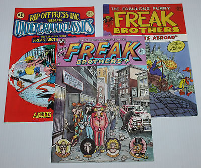 1980's The Fabulous Furry Freak Brothers #1 & 4 & 8 Issues ( BIG PHOTOS )