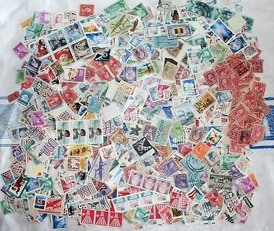 Bulk lot of mixed unsorted used USA stamps