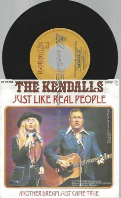 "7""  The Kendalls ‎– Just Like Real People"