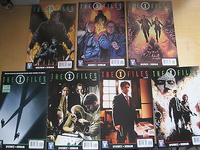 THE X FILES : complete 7 issue 2008 DC/WILDSTORM SERIES by SPOTNITZ & DENHAM 0-6