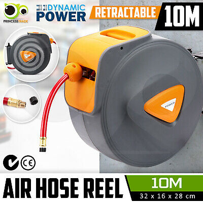 10M Retractable Air Hose Reel Commercial Auto Rewind Wall Mounted Storage Garage