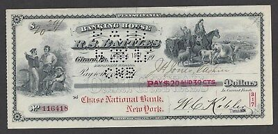 1917 RS Battles Girard Pennsylvania Bank Draft
