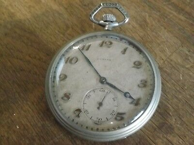 Zenith  Gents Antique Top Wind Pocket Watch  Working