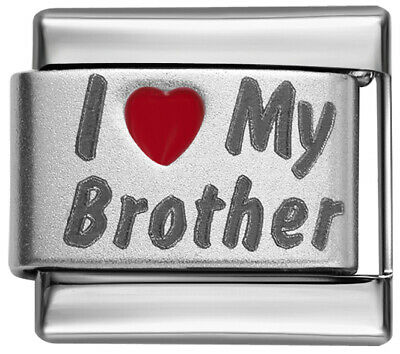 9mm Italian Charm  L71 Family In Memory of My Brother Fits Classic Size Bracelet