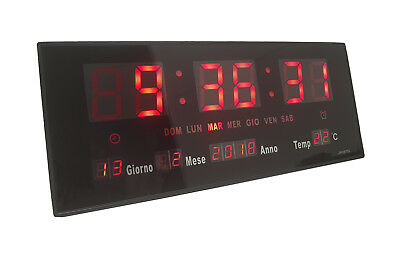 Orologio datario led display digitale con sveglia temperatura jh3615