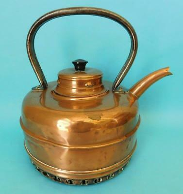 An Early Vintage Patent Stove Top MASTERS ALL COPPER QUICK BOILING KETTLE 1900s