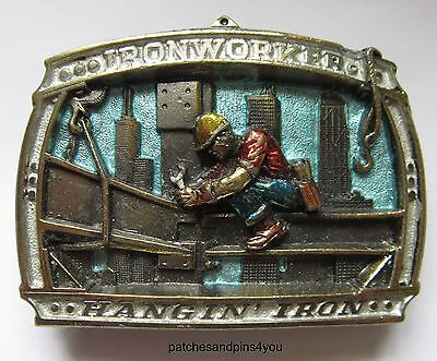 'IRONWORKER' 'HANGIN' IRON' Serial Number 1819  Belt Buckle