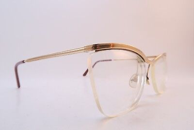 Vintage 50s gold filled eyeglasses frames AMOR made in France men's MED *****