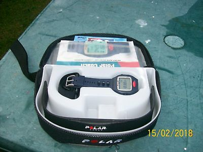 Polar Coach Heart Rate Monitor Watch & Users Manual & Case & CDs etc