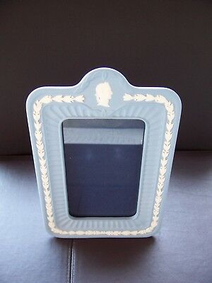 Wedgwood  blue jasperware  photo frame in excellent condition.