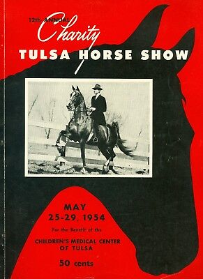 12th Annual Charity Tulsa Horse Show Program May 1954