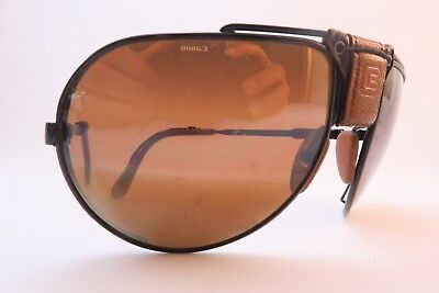 Vintage 70s Cébé DAKAR sports sunglasses sprung bridge mirror lens France