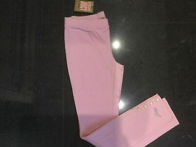NWT Juicy Couture New & Gen. Girls Age 8 Pink Cotton Leggings With Juicy Logo