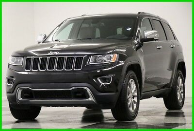 2015 Jeep Grand Cherokee Grand Cherokee 4X4 Limited Sunroof Black 4WD Used Heated Leather Navigation Camera V6 Low Miles 16 17 2016 15 SUV Bluetooth