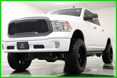 2016 Ram 1500 4X4 Big Horn Crew Lifted Bright White 4WD 6 In Zone Lift 22 In Black Fuel Rims Fury Country Hunter MT Custom Bumper NFAB
