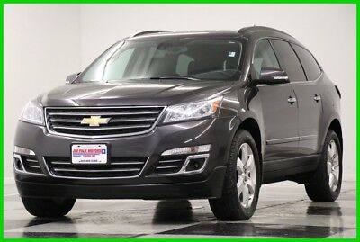 2017 Chevrolet Traverse 4WD Premier AWD GPS Leather Gray 4X4 Used Like New Heated Cooled Navigation 7 Passenger Camera Bluetooth 16 18 2018